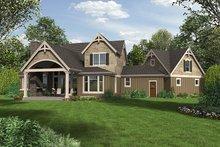 Craftsman Exterior - Rear Elevation Plan #48-923