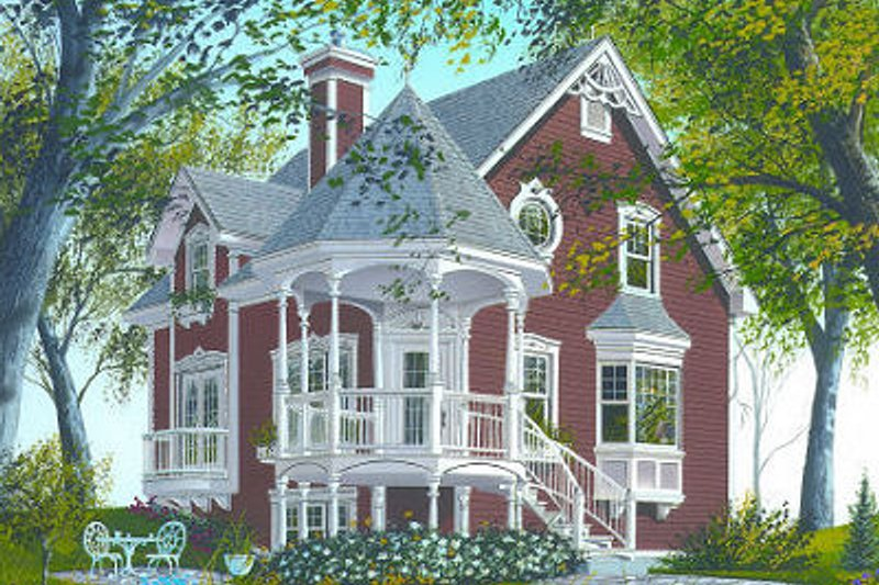 Victorian Exterior - Front Elevation Plan #23-714