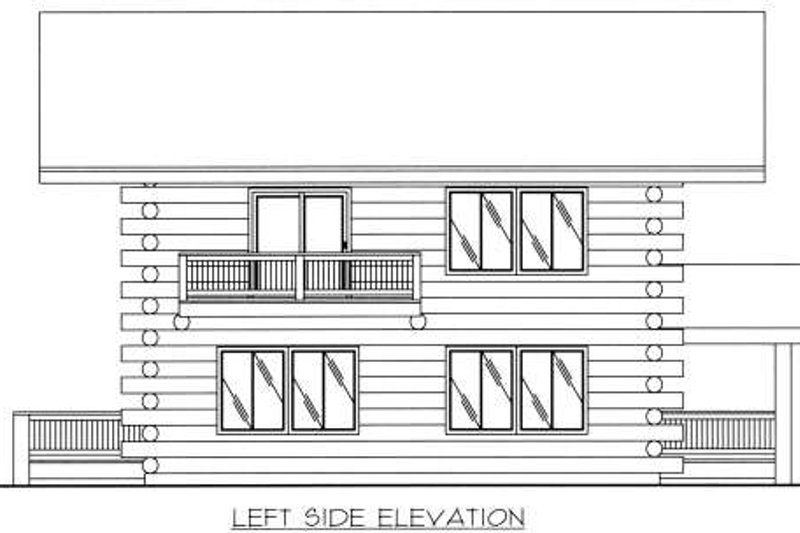Log Exterior - Other Elevation Plan #117-552 - Houseplans.com