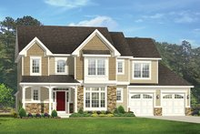 House Plan Design - Colonial Exterior - Front Elevation Plan #1010-166