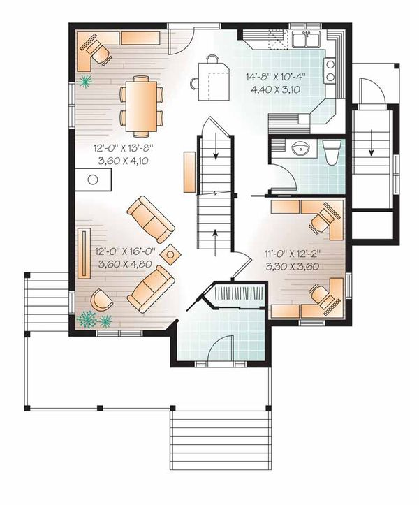 Country Floor Plan - Main Floor Plan Plan #23-2503