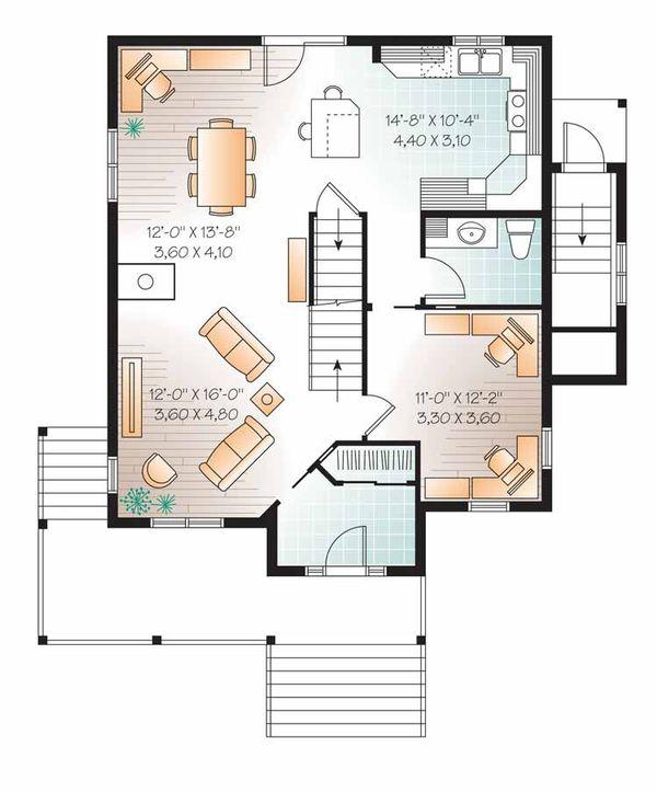 Country Floor Plan - Main Floor Plan Plan #23-2503