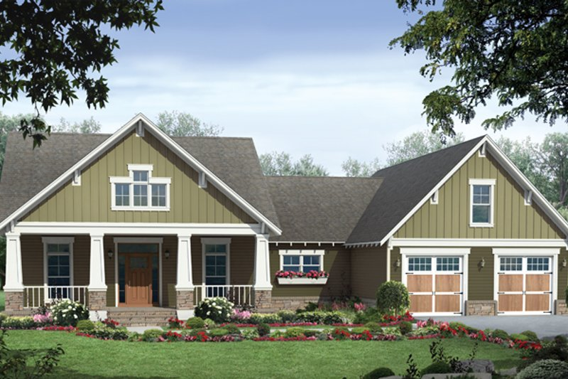 Country Exterior - Front Elevation Plan #21-429 - Houseplans.com