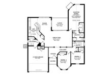 Mediterranean Floor Plan - Main Floor Plan Plan #1058-36
