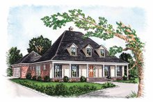 Architectural House Design - Colonial Exterior - Front Elevation Plan #15-305