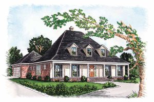 House Design - Colonial Exterior - Front Elevation Plan #15-305