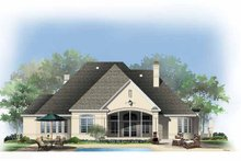 House Plan Design - European Exterior - Rear Elevation Plan #929-890