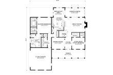 Cape Cod style house plan, main level floorplan