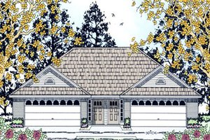 Dream House Plan - Traditional Exterior - Front Elevation Plan #42-375