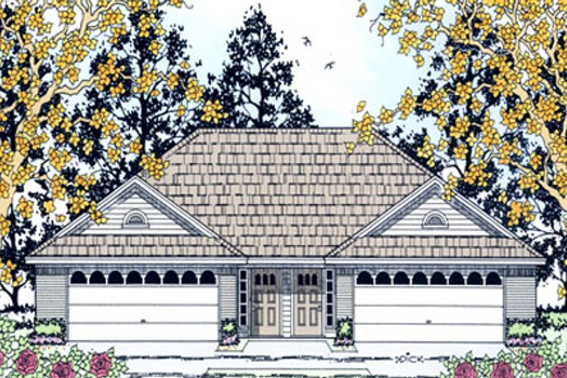 Traditional Exterior - Front Elevation Plan #42-375 - Houseplans.com