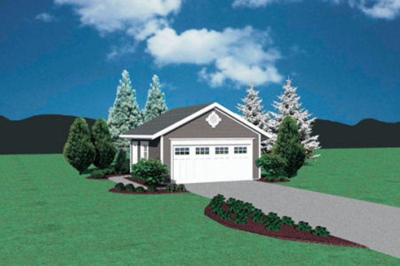 Traditional Exterior - Front Elevation Plan #48-369 - Houseplans.com