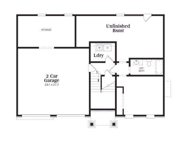 Traditional Floor Plan - Lower Floor Plan Plan #419-103