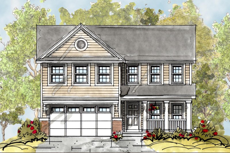 Country Exterior - Front Elevation Plan #20-2149