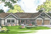 Ranch Style House Plan - 4 Beds 3 Baths 2481 Sq/Ft Plan #124-371 Exterior - Front Elevation