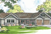 Home Plan - Ranch Exterior - Front Elevation Plan #124-371