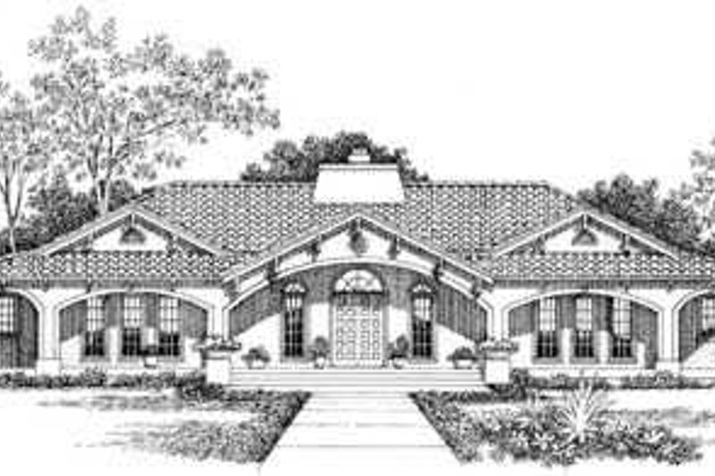 Mediterranean Exterior - Other Elevation Plan #72-177 - Houseplans.com