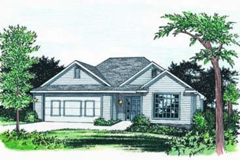 Traditional Exterior - Front Elevation Plan #20-526 - Houseplans.com
