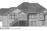 European Style House Plan - 4 Beds 3.5 Baths 4480 Sq/Ft Plan #70-451 Exterior - Rear Elevation