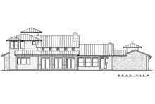 Craftsman Exterior - Rear Elevation Plan #935-11