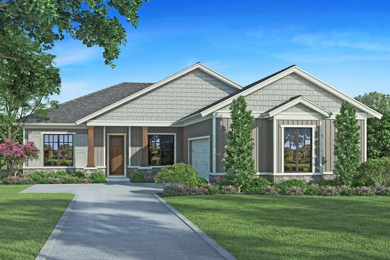 Craftsman Exterior - Front Elevation Plan #938-96