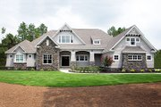 Craftsman Style House Plan - 4 Beds 3 Baths 2533 Sq/Ft Plan #929-24 Exterior - Front Elevation