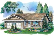 Ranch Style House Plan - 2 Beds 1.5 Baths 997 Sq/Ft Plan #18-1012 Exterior - Front Elevation
