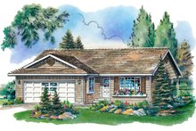 House Blueprint - Ranch Exterior - Front Elevation Plan #18-1012