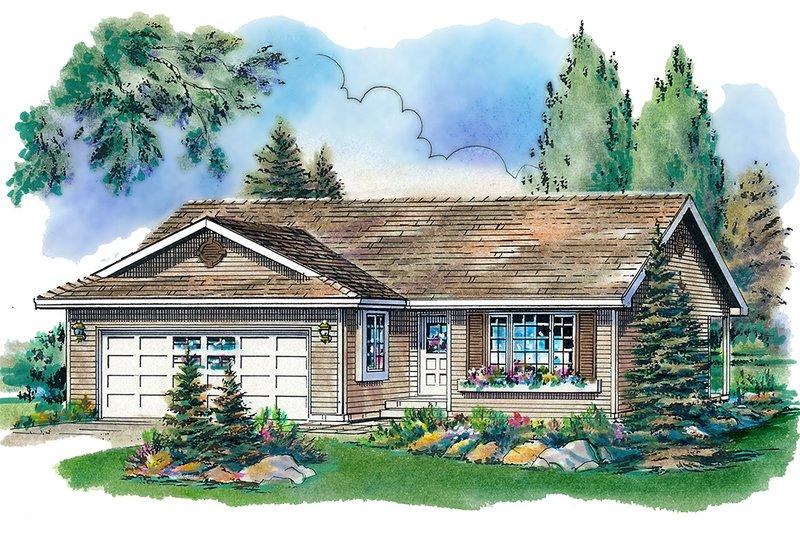 House Design - Ranch Exterior - Front Elevation Plan #18-1012