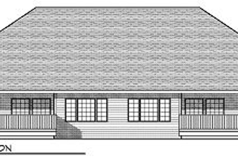 Traditional Exterior - Rear Elevation Plan #70-893 - Houseplans.com