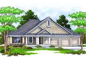 Country Exterior - Front Elevation Plan #70-670