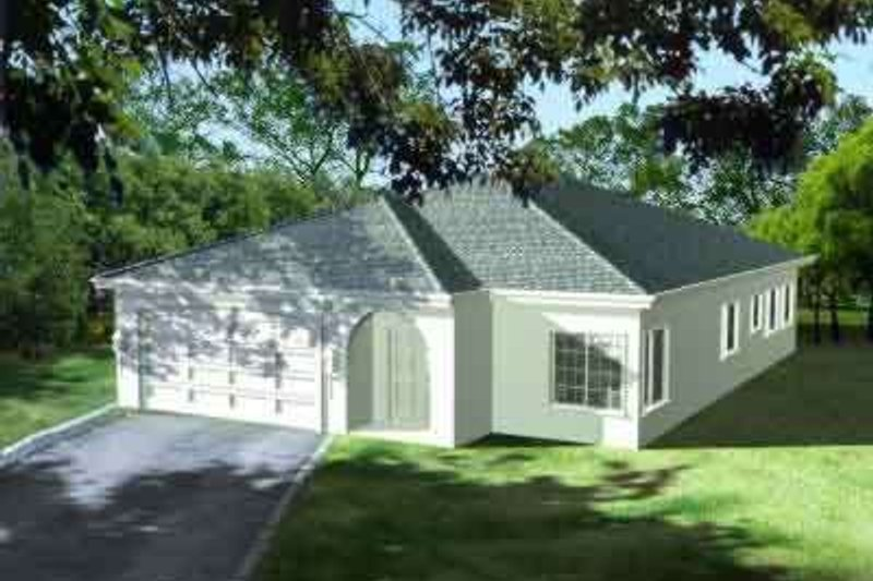 Adobe / Southwestern Style House Plan - 3 Beds 2 Baths 1846 Sq/Ft Plan #1-1359
