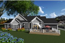 Architectural House Design - Ranch Exterior - Rear Elevation Plan #70-1275