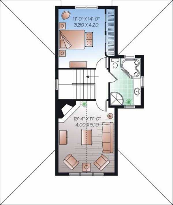 Traditional Floor Plan - Upper Floor Plan Plan #23-826