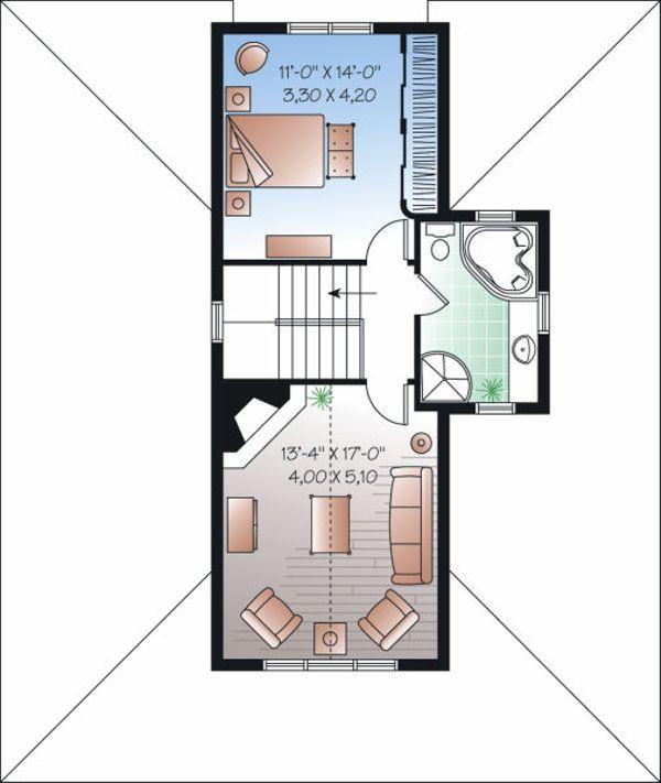 Traditional Floor Plan - Upper Floor Plan Plan #23-826