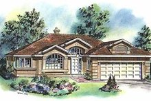 Ranch Exterior - Front Elevation Plan #18-116