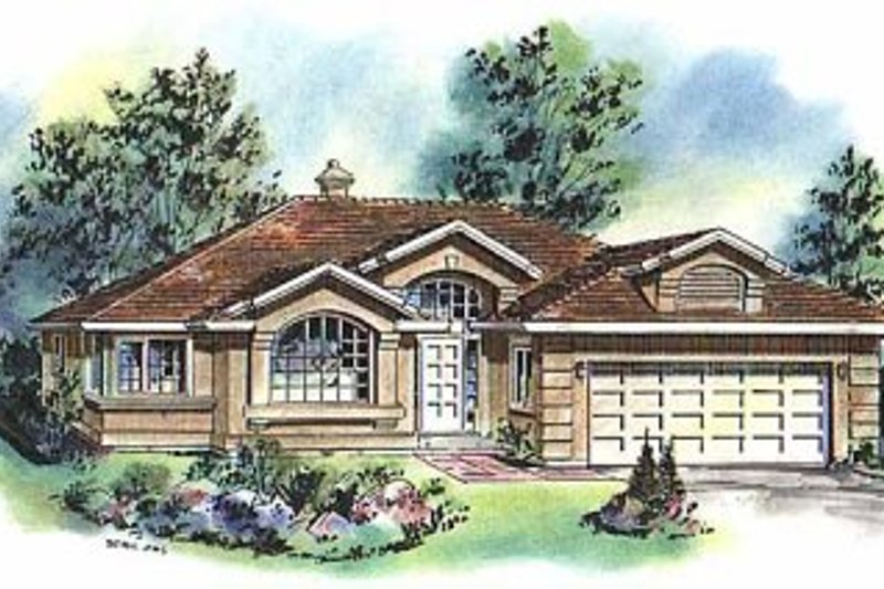 Architectural House Design - Ranch Exterior - Front Elevation Plan #18-116