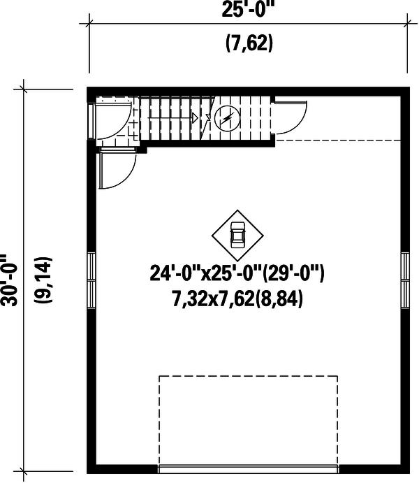 Country Floor Plan - Main Floor Plan Plan #25-4750