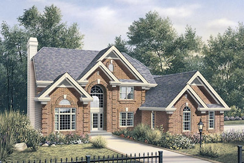 Colonial Exterior - Front Elevation Plan #57-290