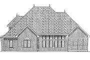 Traditional Style House Plan - 3 Beds 2.5 Baths 2396 Sq/Ft Plan #70-382 Exterior - Rear Elevation