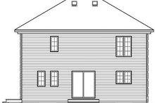 Colonial Exterior - Rear Elevation Plan #23-736