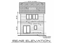 Dream House Plan - Traditional Exterior - Rear Elevation Plan #20-2105