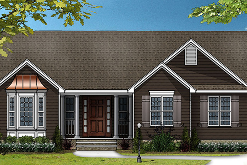Traditional Exterior - Front Elevation Plan #977-4 - Houseplans.com