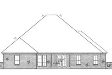 European Exterior - Rear Elevation Plan #310-1274