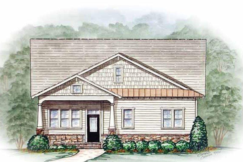 Craftsman Exterior - Front Elevation Plan #54-212