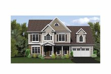 Classical Exterior - Front Elevation Plan #1010-11