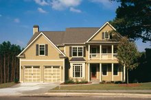 Classical Exterior - Front Elevation Plan #927-859