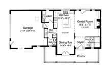 Traditional Floor Plan - Main Floor Plan Plan #46-800