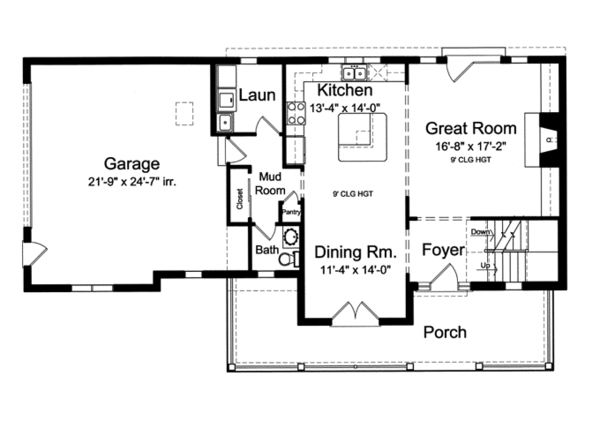 Traditional Floor Plan - Main Floor Plan Plan #46-800