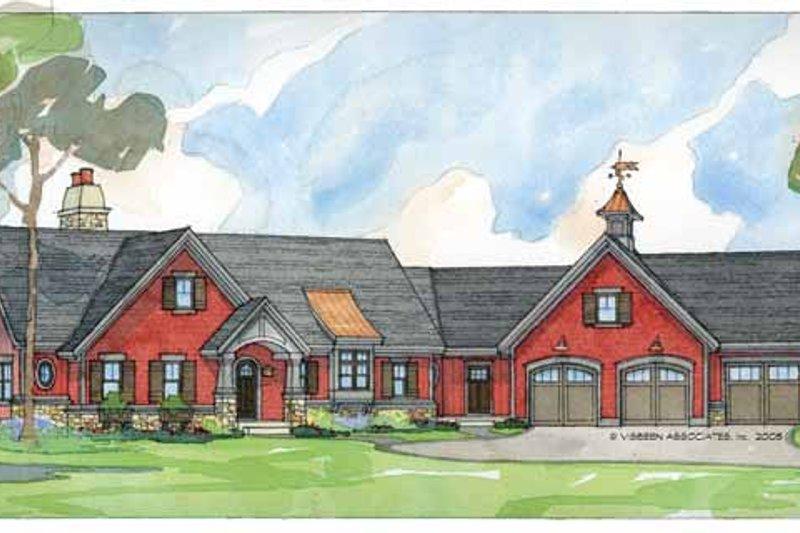 Craftsman Exterior - Front Elevation Plan #928-36