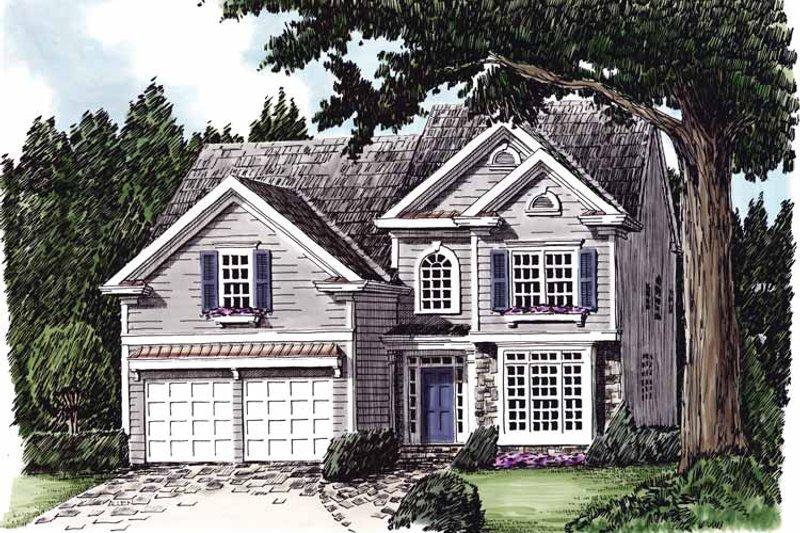 Colonial Exterior - Front Elevation Plan #927-628 - Houseplans.com
